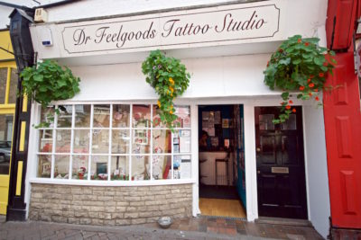 Dr Feelgoods shop front, Poole